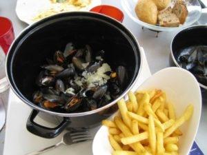 Belgium's national dish Moules frites (Photo: Wikipedia)